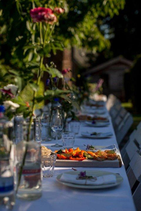 Bruiloft Eten van een lekkere tafel7