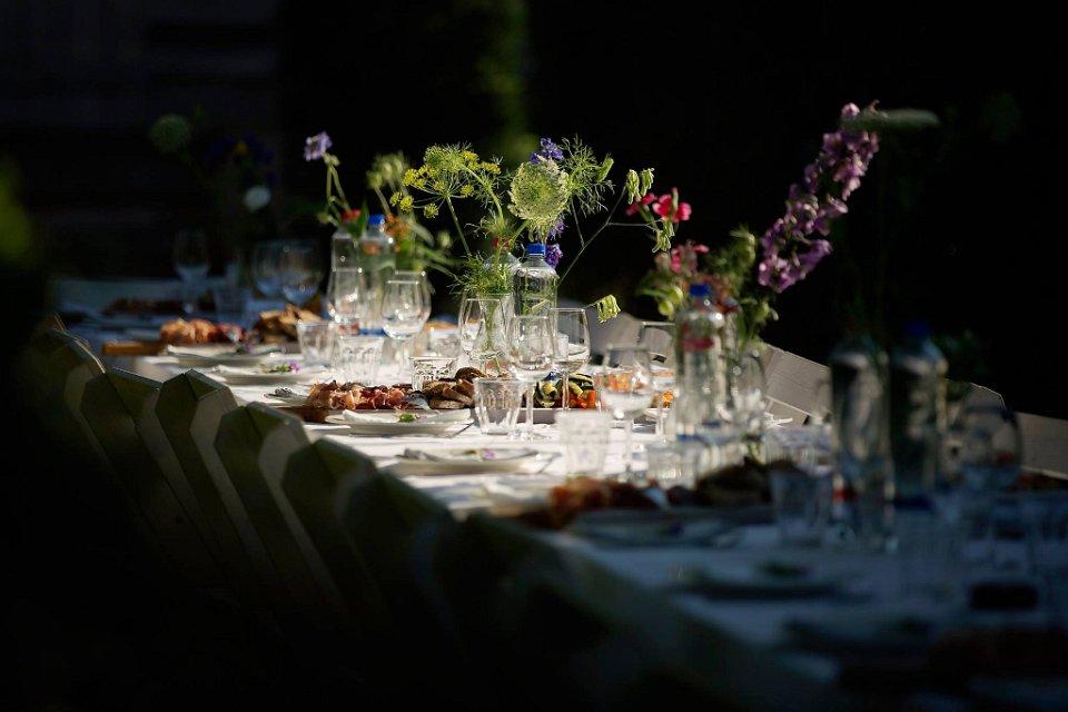Bruiloft Eten van een lekkere tafel8