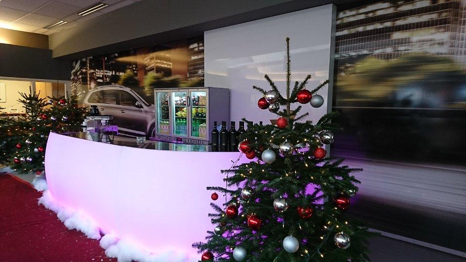 Inrichting kerst met led bar