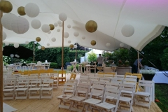Bruiloft ceremonie Wood White
