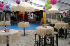 Inrichting beachparty