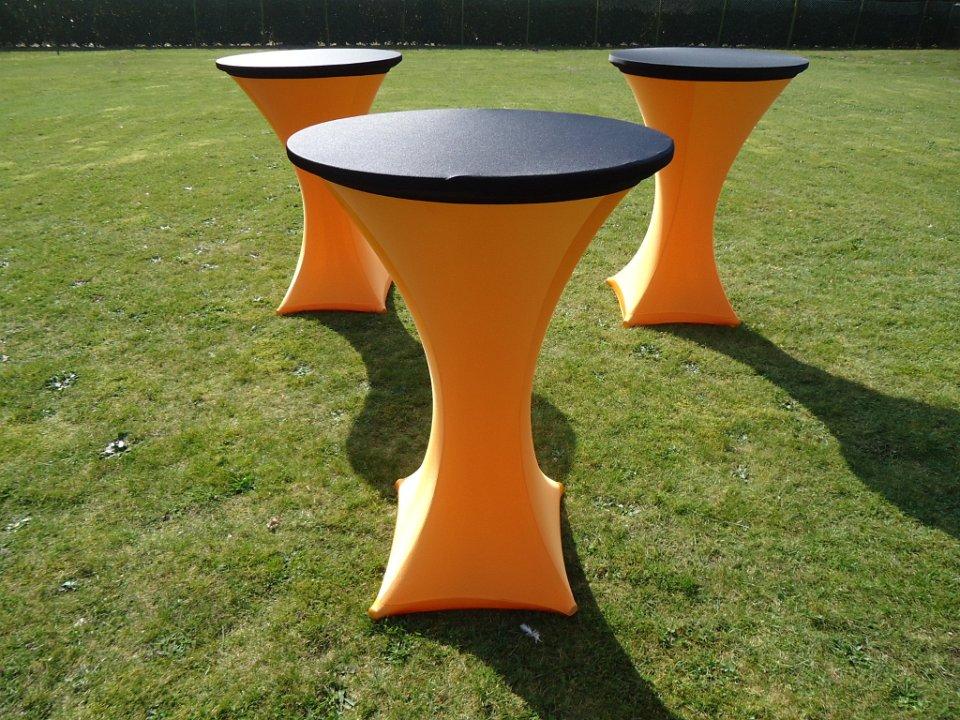 Oranje zwart THUISstatafel verhuur Limburg Brabant