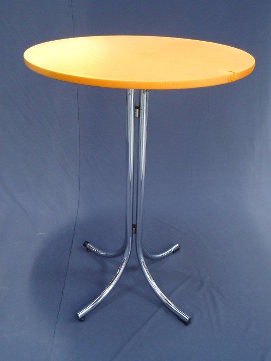 Statafel chroom met oranje topcover