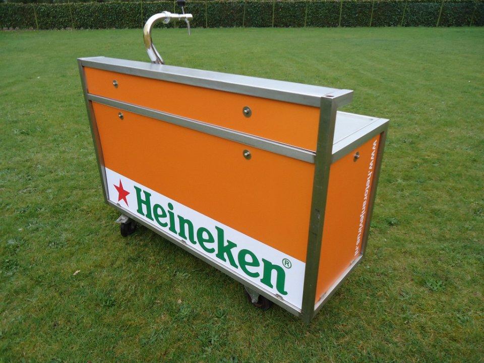 Verhuur Heineken oranje bar 1,6 mtr