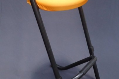 Barkruk zwart oranje
