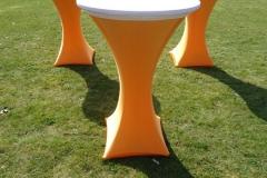 Oranje wit statafel verhuur Gelderland Noord Brabant