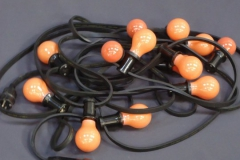 Prikkabelverlichting 10 mtr. oranje