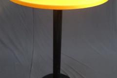 Statafel luxe zwart met oranje topcover