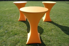 Statafel oranje verhuur Noord-Brabant