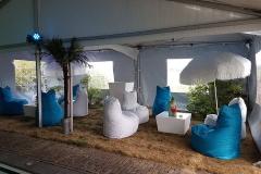 Loungeset zitzakken met tafel