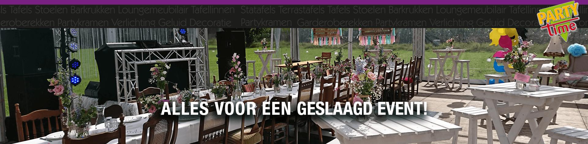 Fotoalbum Bruiloft Particulier - Party-Time Verhuur & Organisatie