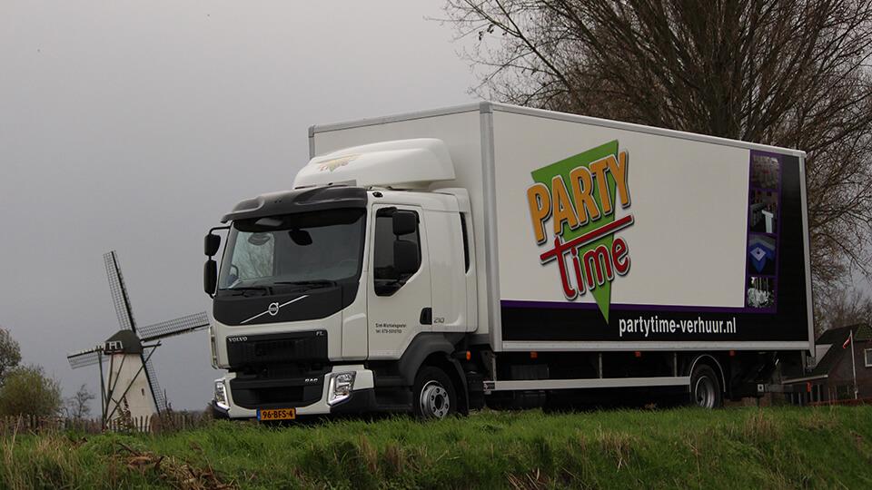 Over Ons - Party-Time Verhuur & Organisatie - Vrachtwagen