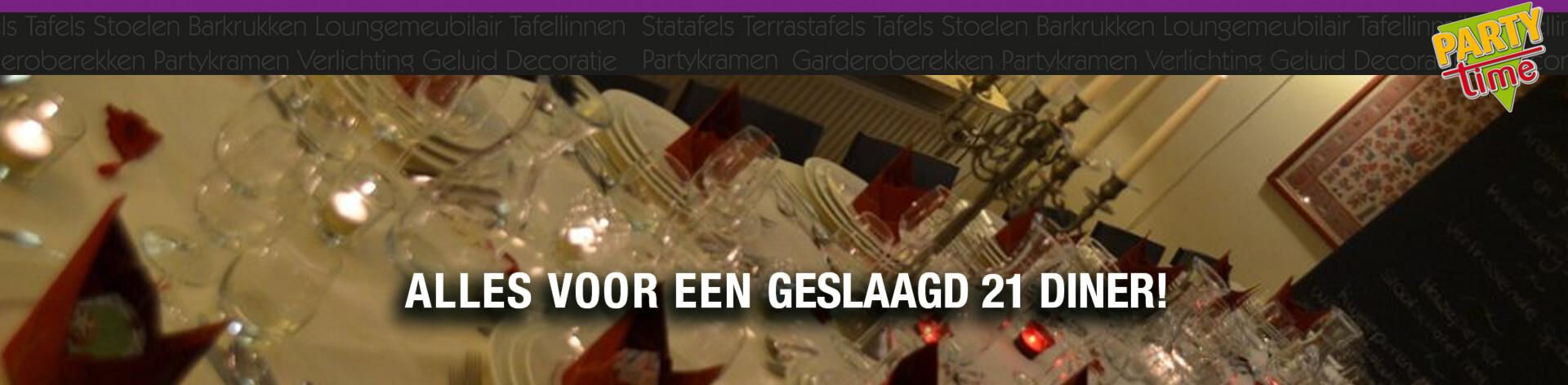 21 diner - Party-Time Verhuur & Organisatie